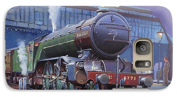 Galaxy Case featuring the painting Gresley Green Arrow Class. by Mike  Jeffries