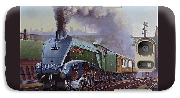 Galaxy Case featuring the painting Gresley Pacific A4 Class. by Mike  Jeffries