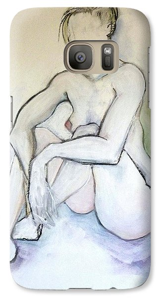 Galaxy Case featuring the pastel Gretchen - Female Nude Drawing by Carolyn Weltman