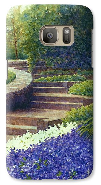 Galaxy Case featuring the painting Gretchen's View At Cheekwood by Janet King