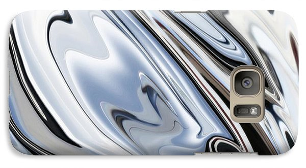 Grey And Black Metal Marbling Effect Abstract Galaxy S7 Case