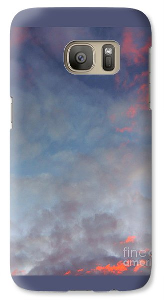 Galaxy Case featuring the photograph Pink Flecked Sky by Linda Hollis