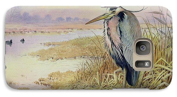 Grey Heron Galaxy Case by John James Audubon