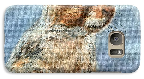Galaxy Case featuring the painting Grey Squirrel by David Stribbling