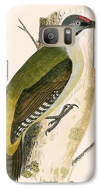 Grey Woodpecker Galaxy S7 Case by English School