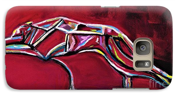 Galaxy Case featuring the painting Greyhound Glass Figurine  by Frances Marino
