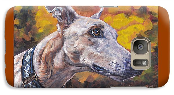 Galaxy Case featuring the painting Greyhound Portrait by Lee Ann Shepard