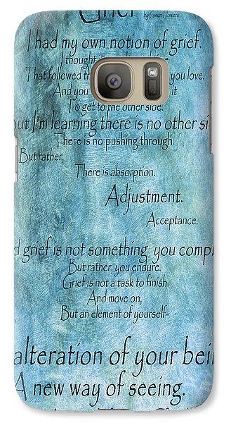 Galaxy Case featuring the mixed media Grief 2 by Angelina Vick