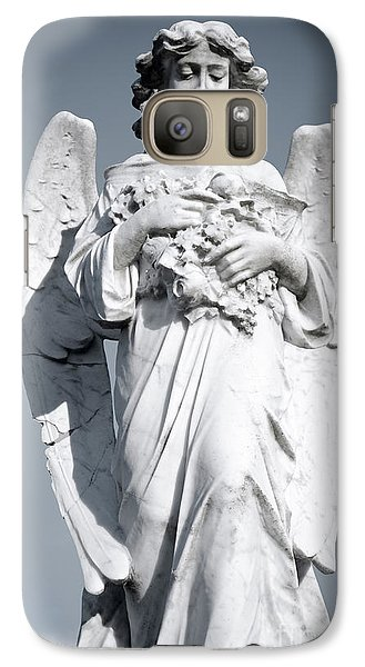 Galaxy Case featuring the sculpture Grieving Angel On The Old Graveyard by Yurix Sardinelly