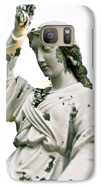 Galaxy Case featuring the sculpture Grieving Angel by Yurix Sardinelly