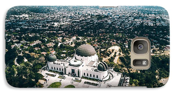 Griffith Observatory And Dtla Galaxy S7 Case by Andrew Mason