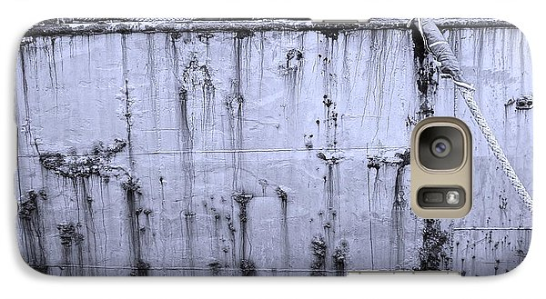 Galaxy Case featuring the photograph Grimy Old Ship Hull by Yali Shi