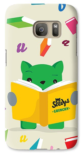Grinchy And Books Galaxy Case by Seedys