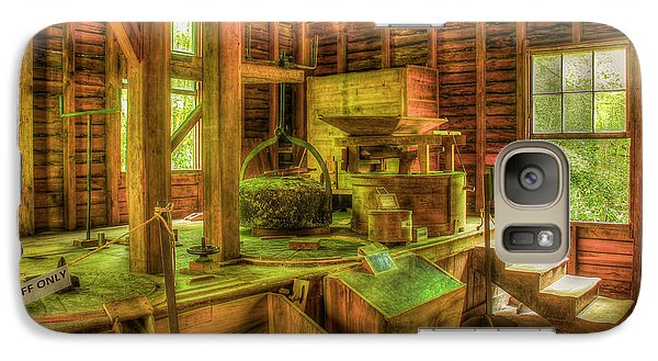 Galaxy Case featuring the photograph Grindingworks Mingus Mill Great Smoky Mountains Art by Reid Callaway