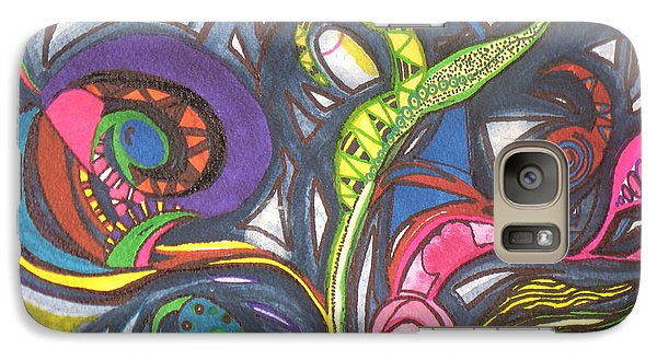 Galaxy Case featuring the painting Groovy Series by Chrisann Ellis