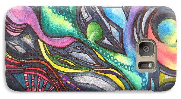 Galaxy Case featuring the painting Groovy Series Titled My Hippy Days  by Chrisann Ellis