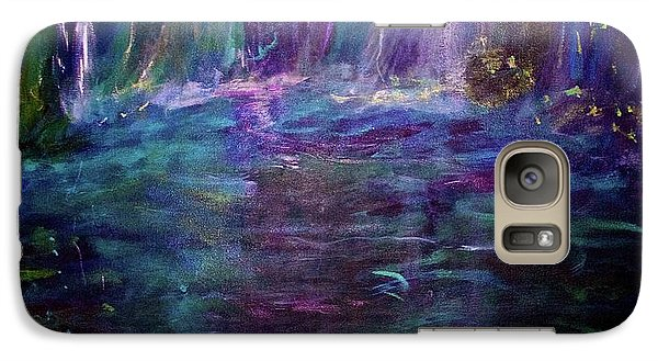 Galaxy Case featuring the painting Grotto by Heidi Scott