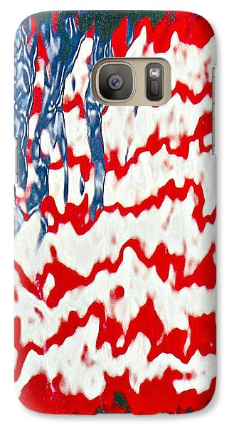 Galaxy Case featuring the photograph Ground Zero Reflection Of The American Flag by Lorella  Schoales