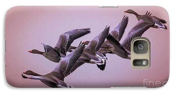 Galaxy Case featuring the photograph  Group Flight  by Franziskus Pfleghart