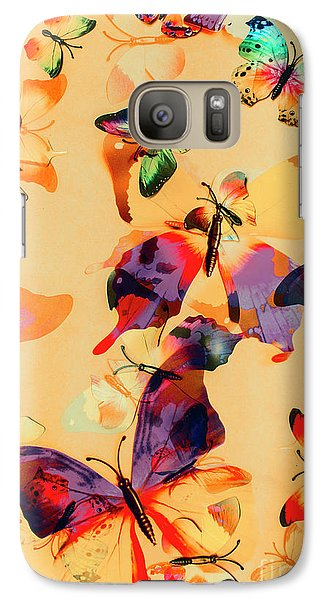 Group Of Butterflies With Colorful Wings Galaxy S7 Case