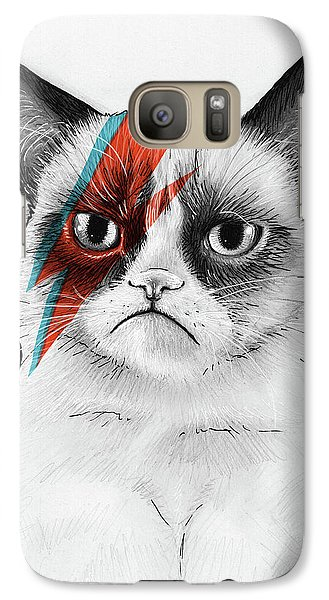 Galaxy S7 Case - Grumpy Cat As David Bowie by Olga Shvartsur