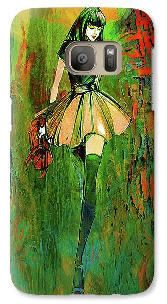 Galaxy Case featuring the digital art Grunge Doll by Greg Sharpe