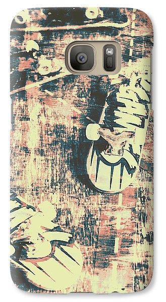 Truck Galaxy S7 Case - Grunge Skateboard Poster Art by Jorgo Photography - Wall Art Gallery