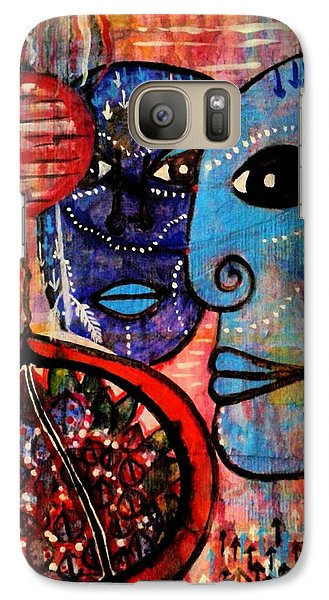 Galaxy Case featuring the painting Guarding The Pomegranate by Mimulux patricia no No
