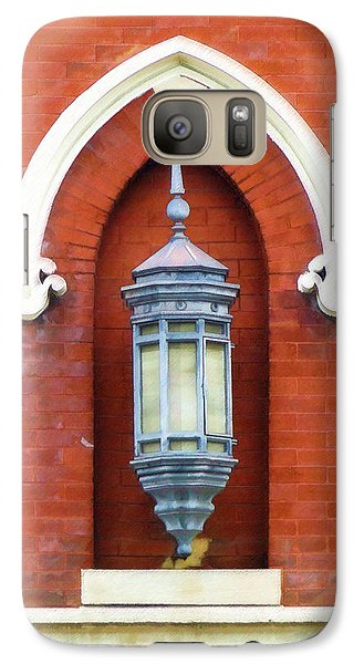 Galaxy Case featuring the painting Guiding Light At The Mother Church by Sandy MacGowan