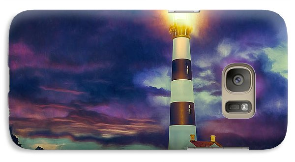 Galaxy Case featuring the painting Guiding Light by Dan Carmichael