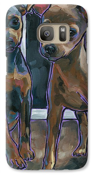 Galaxy Case featuring the painting Guinness And Bailey by Nadi Spencer