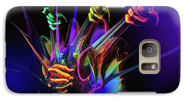 Galaxy Case featuring the painting Guitar 3000 by DC Langer