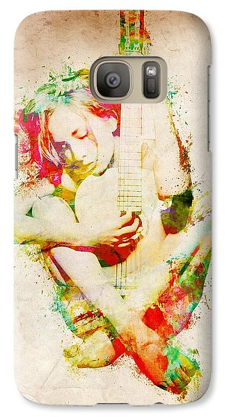 Rock And Roll Galaxy S7 Case - Guitar Lovers Embrace by Nikki Smith