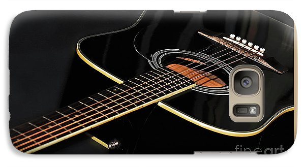 Galaxy Case featuring the photograph Guitar Low Key By Kaye Menner by Kaye Menner