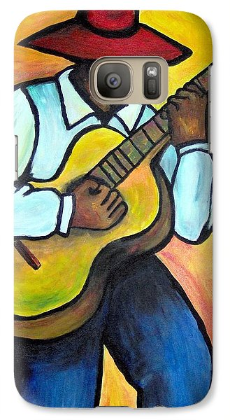 Galaxy Case featuring the painting Guitar Man by Diane Britton Dunham