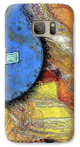 Galaxy Case featuring the painting Guitar Music by Allison Ashton