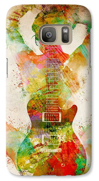 Music Galaxy S7 Case - Guitar Siren by Nikki Smith