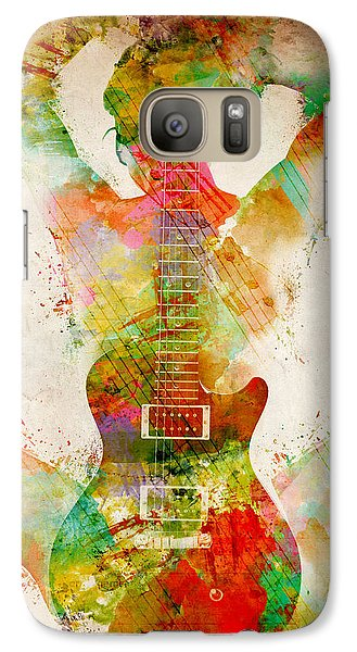 Guitar Siren Galaxy S7 Case by Nikki Smith