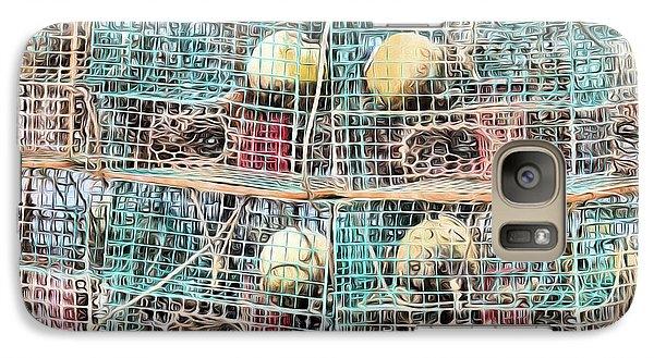 Galaxy Case featuring the digital art Gulf Coast Crab Traps by JC Findley