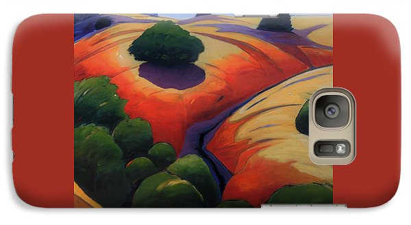 Galaxy Case featuring the painting Gully by Gary Coleman