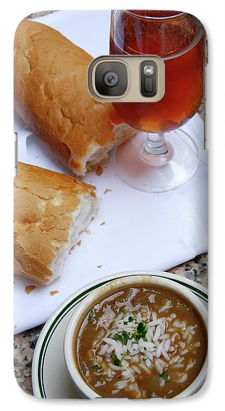 Galaxy Case featuring the photograph Gumbo Lunch by KG Thienemann