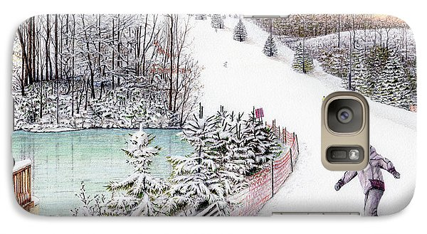 Galaxy Case featuring the painting Gunnar Slope And The Ducky Pond by Albert Puskaric