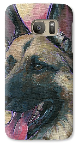 Galaxy Case featuring the painting Gunner by Nadi Spencer