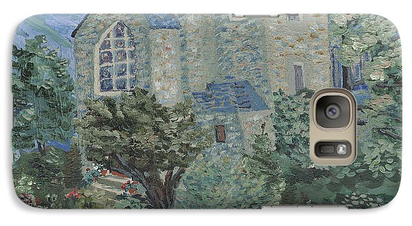 Galaxy Case featuring the painting Gunnison Chapel In The Last Days Of Summer by Denny Morreale