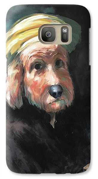 Galaxy Case featuring the painting Gunther's Self Portrait by Diane Daigle