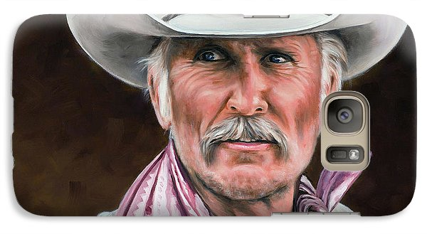 Galaxy Case featuring the painting Gus Mccrae Texas Ranger by Rick McKinney