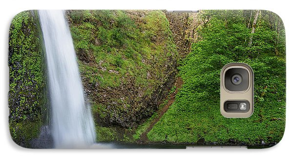 Galaxy Case featuring the photograph Gushing Horsetail Falls by Greg Nyquist
