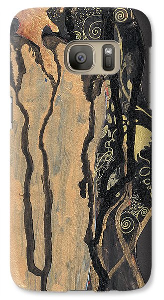 Galaxy Case featuring the painting Gustav Klimt's Tears by Maya Manolova
