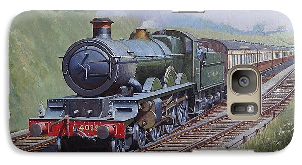Galaxy Case featuring the painting Gwr Saint Class by Mike  Jeffries
