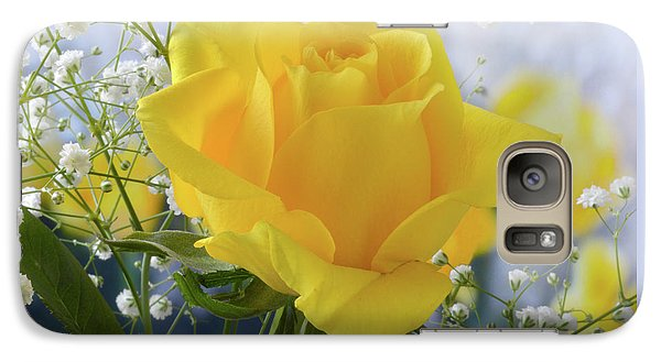 Galaxy Case featuring the photograph Gypsophila And The Rose. by Terence Davis